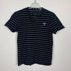 Guess Shirt Short Sleeve 1/2 Button Up Striped